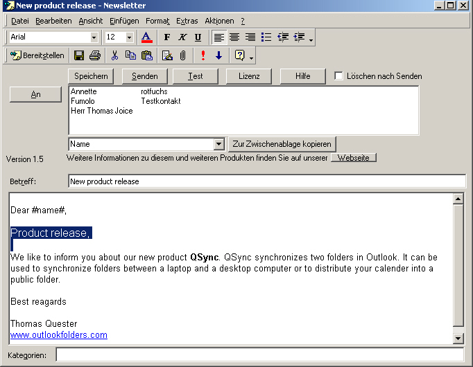 Newsletter software - Email Newsletters with Outlook